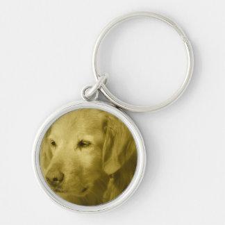 Golden Puppy Keychain
