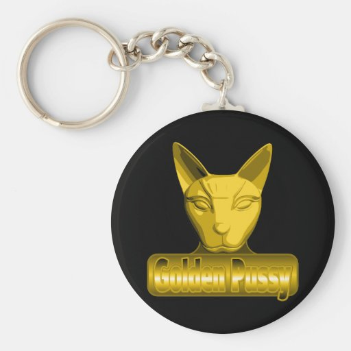 Golden Pussy Keychains