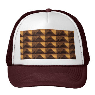Golden PYRAMID ART : Elegant Triangles ENERGY FULL Mesh Hat