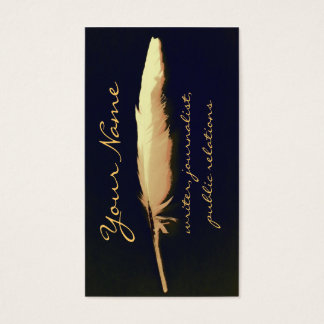 golden quill writer business card