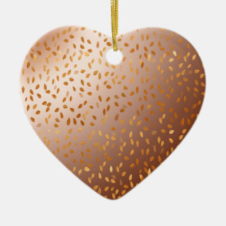 Golden rain ceramic ornament
