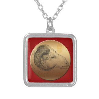 Golden Ram - Born in Sheep Year - Necklace 2