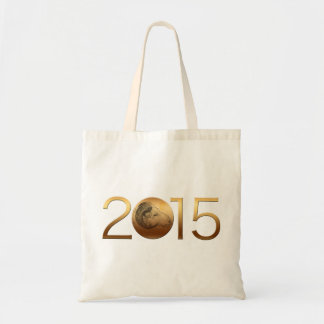 Golden Ram Chinese New Year of the Sheep 2015 Budget Tote Bag