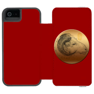 Golden Ram or Aries - Chinese + Western Astrolgy Incipio Watson™ iPhone 5 Wallet Case