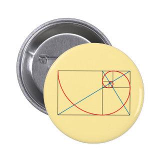 Golden Ratio 6 Cm Round Badge