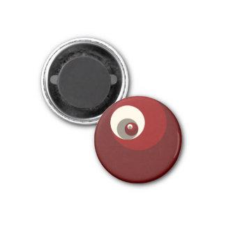 Golden Ratio Circles (Red) 3 Cm Round Magnet
