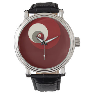 Golden Ratio Circles (Red) Wristwatches