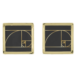 Golden Ratio Cufflinks Gold Finish Cufflinks