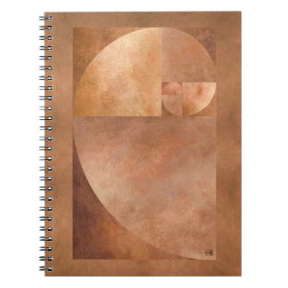 Golden Ratio, Fibonacci Spiral Notebooks