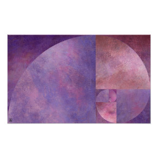 Golden Ratio Fibonacci Spiral Poster