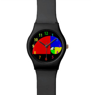 Golden Ratio, Fibonacci Spiral Wrist Watch