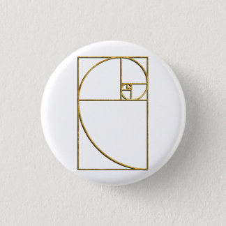 Golden Ratio Sacred Fibonacci Spiral 3 Cm Round Badge