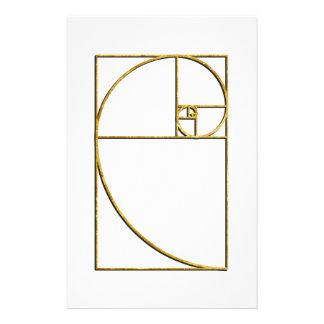 Golden Ratio Sacred Fibonacci Spiral Stationery Design