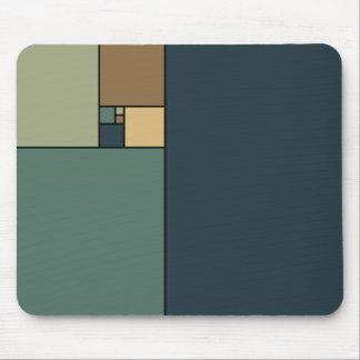 Golden Ratio Squares (Neutrals) Mouse Pad