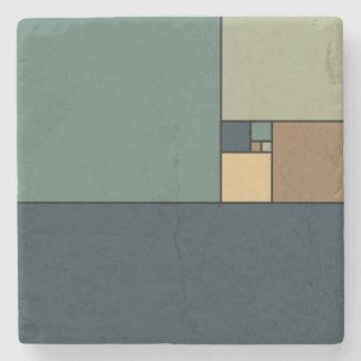 Golden Ratio Squares (neutrals) Stone Coaster