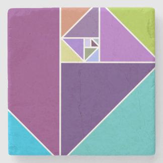 Golden Ratio Triangles Stone Coaster