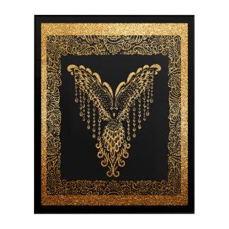 Golden raven acrylic print