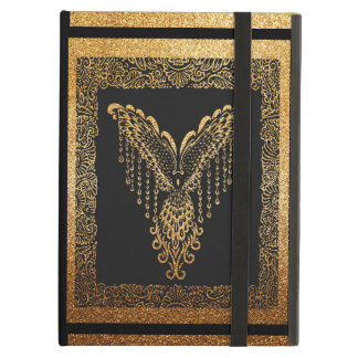 Golden raven cover for iPad air