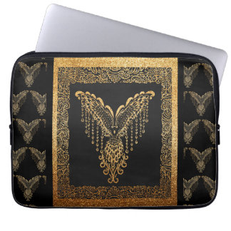 Golden raven laptop sleeve