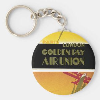 Golden Ray Air Union Basic Round Button Key Ring