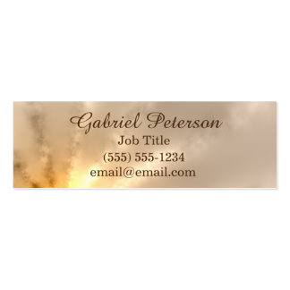 Golden Ray of Light Pack Of Skinny Business Cards