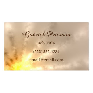 Golden Ray of Light Pack Of Standard Business Cards