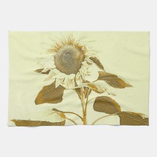 Golden Rayed Sunflower Kitchen Towel