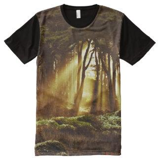 Golden Rays of Light All-Over Print T-Shirt