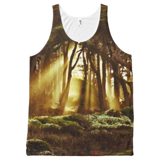 Golden Rays of Light All-Over Print Tank Top