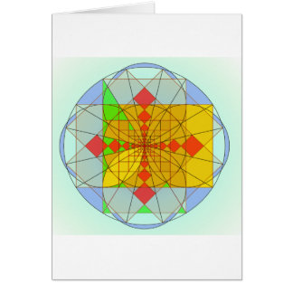 Golden rectangle shapes card