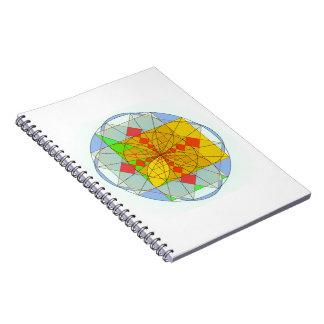 Golden rectangle shapes spiral notebook