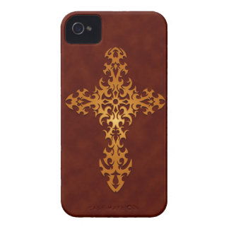 Golden Red Tribal Gothic Cross Case-Mate iPhone 4 Cases
