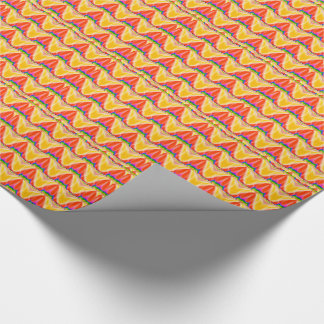 GOLDEN RED YELLOW GIFTS CELEBRATIONS SENSUAL WRAPPING PAPER