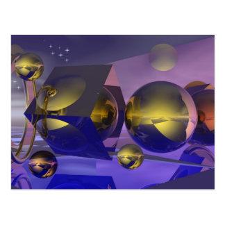 Golden reflections card