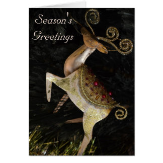 Golden Reindeer Christmas card