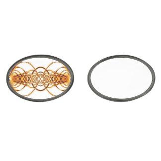 Golden Resonance Wave cufflinks Gunmetal Finish Cuff Links