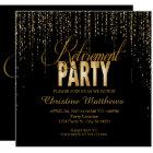 Golden Retirement Party Invitations