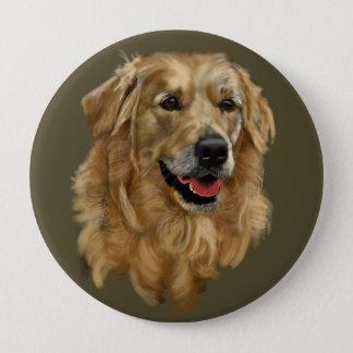 Golden Retriever 10 Cm Round Badge