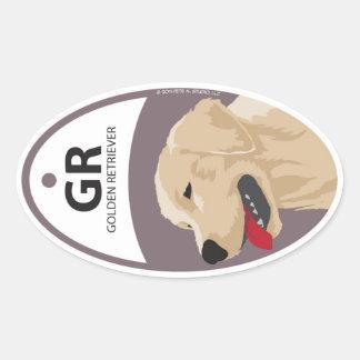 Golden Retriever 1 Oval Sticker