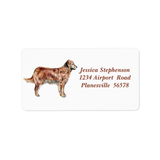 Golden Retriever address label