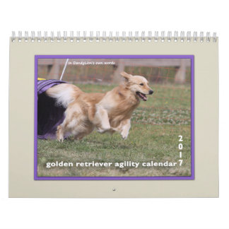 Golden Retriever Agility 2017 Wall Calendar