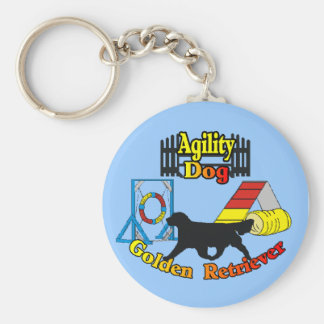 Golden Retriever Agility Dog Gifts Key Ring