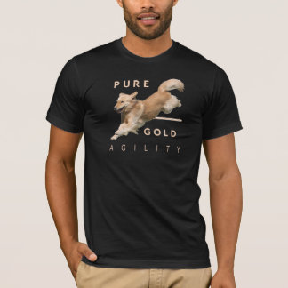 Golden Retriever Agility T-shirt 'PureGold'