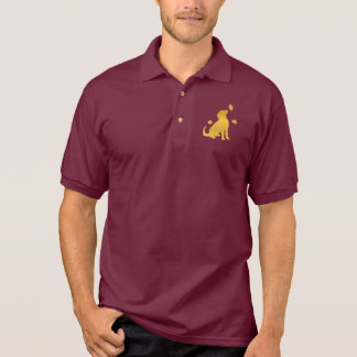 Golden Retriever Among the Fall Leaves Polo Shirt