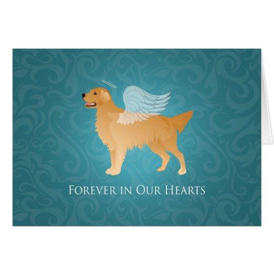 Golden Retriever Angel Dog - Pet Memorial Card