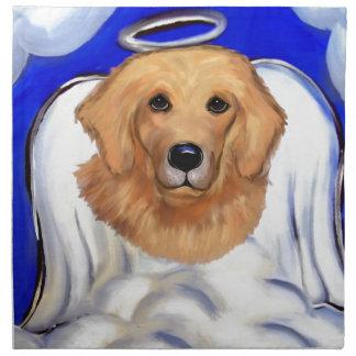 Golden Retriever Angel Napkin