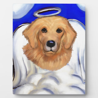 Golden Retriever Angel Plaque