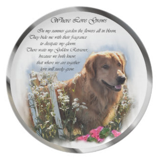 Golden Retriever Art Plate