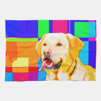 Golden Retriever Art Tea Towel