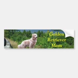 Golden Retriever At Lake Bumper Sticker Mom